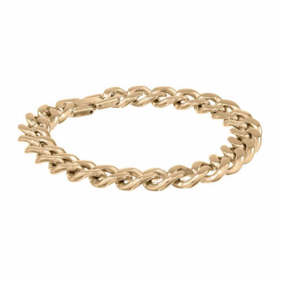 Mens 10 Inch Stainless Steel Chain Bracelet