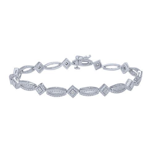 Womens 1/10 CT. T.W. White Diamond Link Bracelet