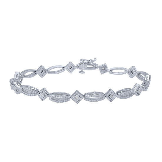 Womens 1/10 CT. T.W. White Diamond Tennis Bracelet