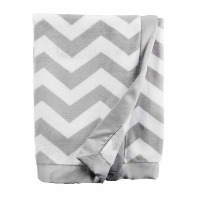 Carter's Gray Chevron Blanket