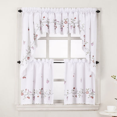 Lichtenberg Charlene Rod-Pocket Kitchen Valance