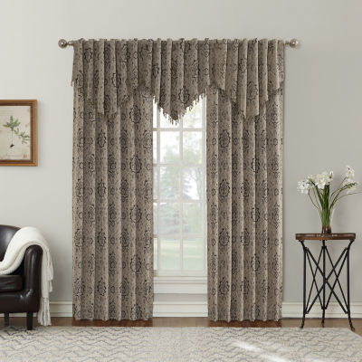 Sun Zero Sagan Yarn Dyed Woven Back-Tab Curtain Panel