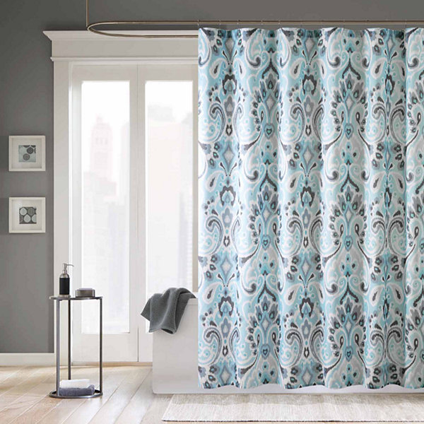 Madison Park Palermo Microfiber Shower Curtain