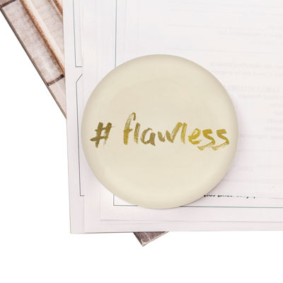 Cathy's Concepts  #Flawless Domed Glass Paperweight
