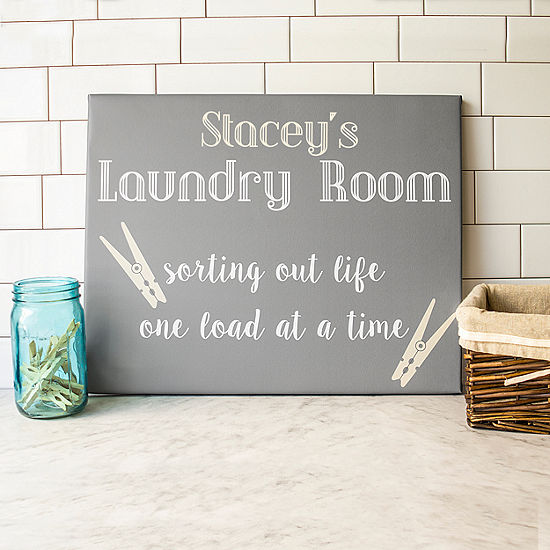 Cathys Concepts Personalized Laundry Room Canvas