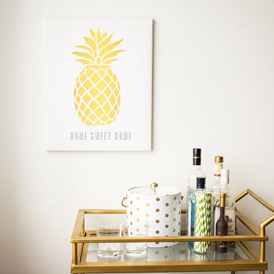 Cathy's Concepts Personalized Pineapple Canvas