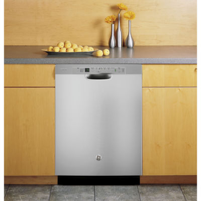 GE Profile™ ENERGY STAR® Stainless Steel Interior Dishwasher with Front Controls
