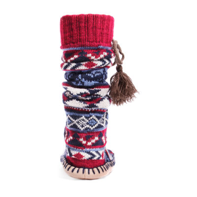 Muk Luks Bootie Slippers With Tassels