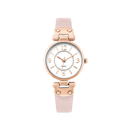 Mixit Womens Pink Strap Watch-Pts1064rglp