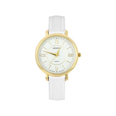 Mixit Womens White Strap Watch-Pts2055gdwt