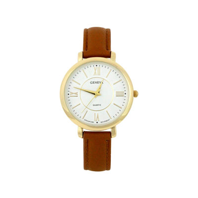Mixit Womens Brown Strap Watch-Pts2055gdcg