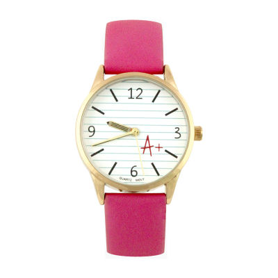Mixit A+ Womens Pink Strap Watch-Pts2998gdhp