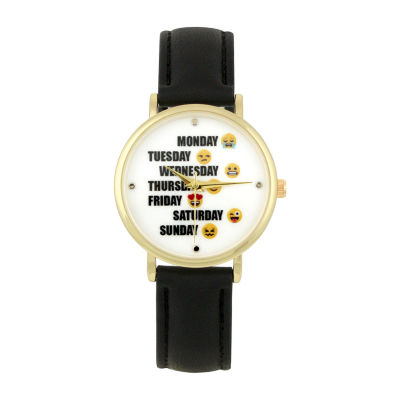 Mixit Womens Black Strap Watch-Pts3364gdbk