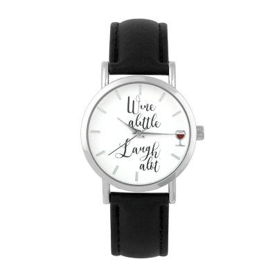 Mixit Womens Black Strap Watch-Pts5072slbk