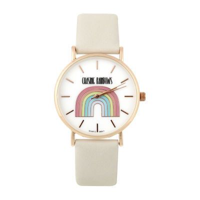 Mixit Chase Rainbows Womens Gray Strap Watch-Pts5077