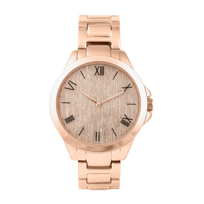 Geneva Womens Rose Goldtone Bracelet Watch-Pts3362rg