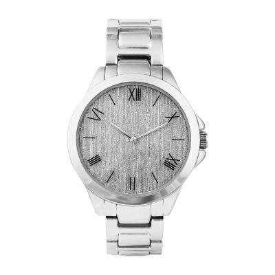 Geneva Womens Silver Tone Bracelet Watch-Pts3362sl