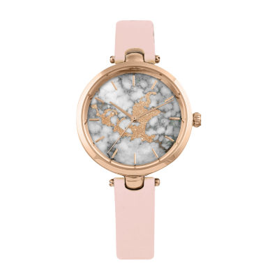 Decree Marble Dial Womens Strap Watch-Pts2924rgbh