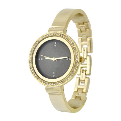 Mixit Womens Gold Tone Bangle Watch-Pts2316gd