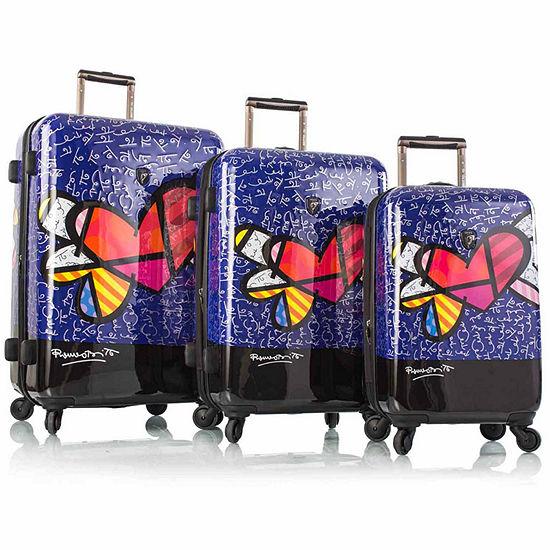 Heys Britto Hearts Wings 3-pc. Hardside Luggage Set