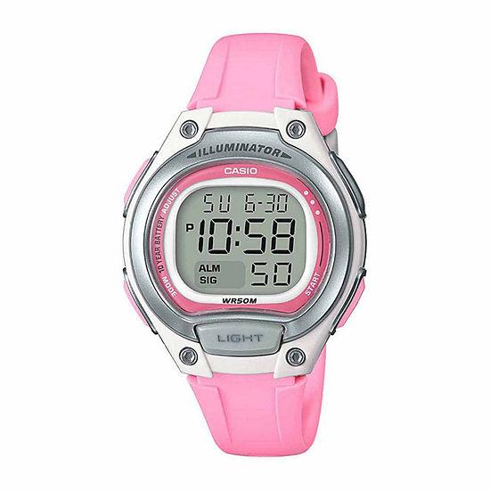 Casio Womens Pink Strap Watch-Lw203-4a