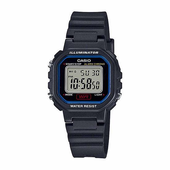 Casio Womens Black Strap Watch La20wh 1c