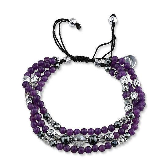Footnotes Amethyst Bead Beaded Bracelet