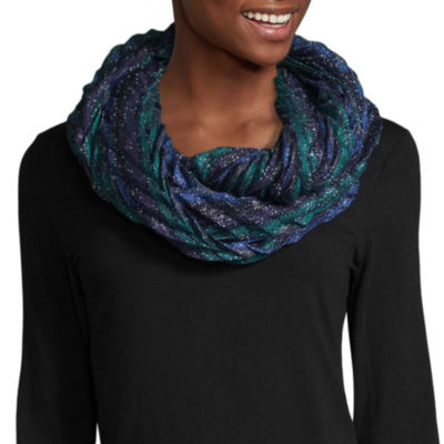 Mixit Pleated Shine Infinity Scarf