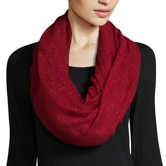 Mixit Shine Solid Infinity Scarf