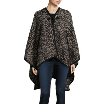 Mixit Leopard Print Toggle Cold Weather Wrap