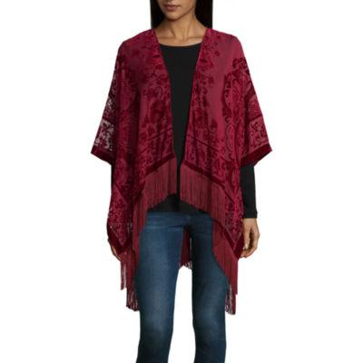 Mixit Velvet Fringe Kimono
