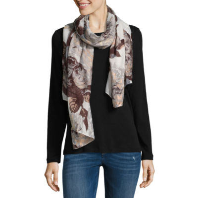 Mixit Foiled Floral Oblong Scarf