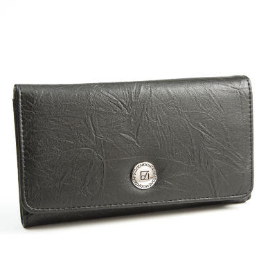 Stone Mountain Washed Leather Zip Around Tab Clutch Clutch Wallet
