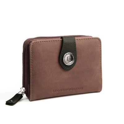 Stone Mountain Nubuck Leather Small Tab Envelope Wallet