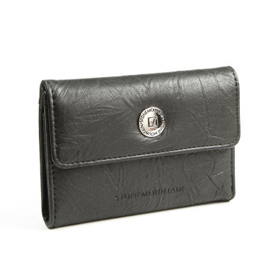 Stone Mountain Washed Leather Small Trifold Tri Fold Wallet