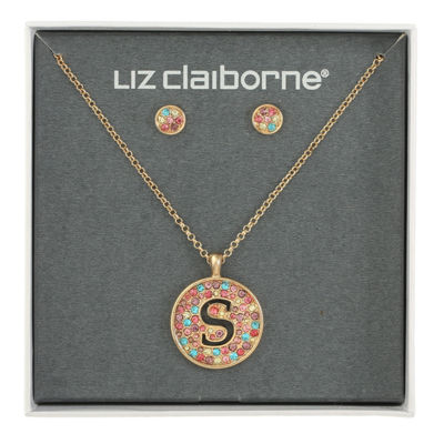 Liz Claiborne Multi Color Gold Tone 2-pc. Jewelry Set