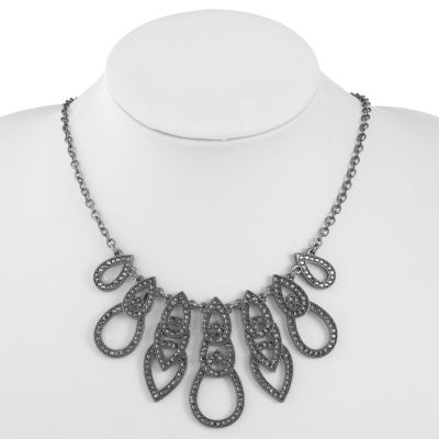 Liz Claiborne Womens Gray Collar Necklace