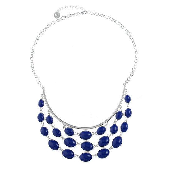 Liz Claiborne Blue 18 Inch Cable Statement Necklace