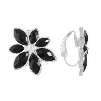 Liz Claiborne Black Clip On Earrings