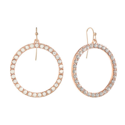 Liz Claiborne Clear Drop Earrings