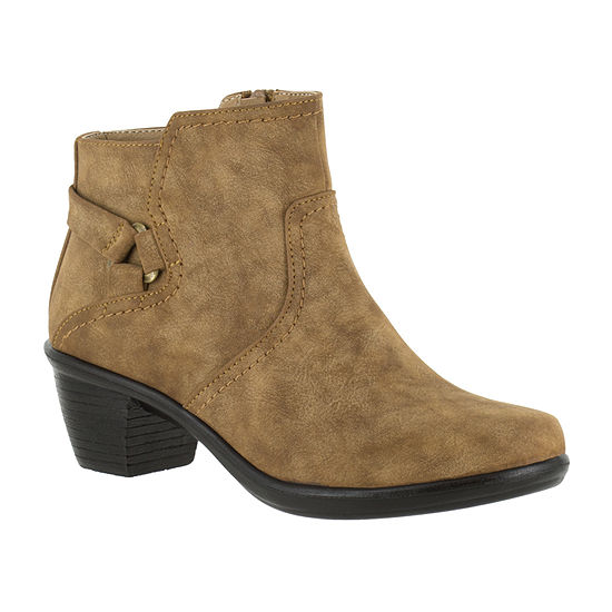 Easy Street Womens Dawnta Booties Block Heel