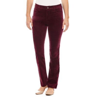 St. John's Bay Secretly Slender Corduroy Pants - Tall