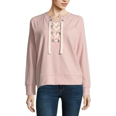 A.N.A Lace Up Sweatshirt
