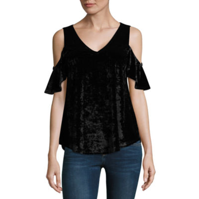 A.N.A Cold Shoulder V- Neck Tunic Top - Tall