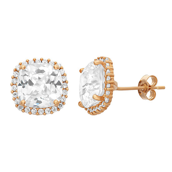 4 CT. T.W. Lab Created White Cubic Zirconia 10K Gold 10.3mm Stud Earrings