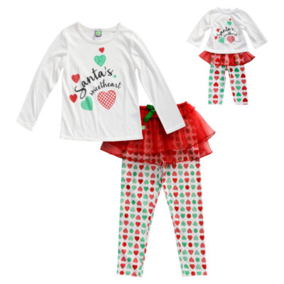 Dollie And Me 3-pc. Pant Pajama Set Girls