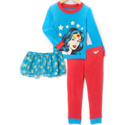 3-pc. Wonder Woman Pajama Set Girls