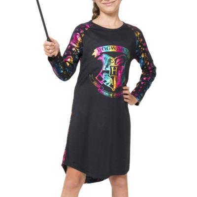 Long Sleeve Harry Potter Nightgown-Big Kid Girls