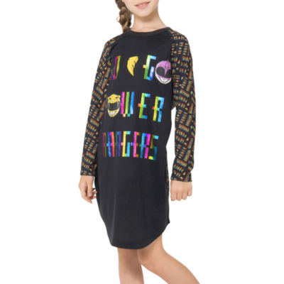 Power Rangers Long Sleeve Power Rangers Nightgown-Big Kid Girls