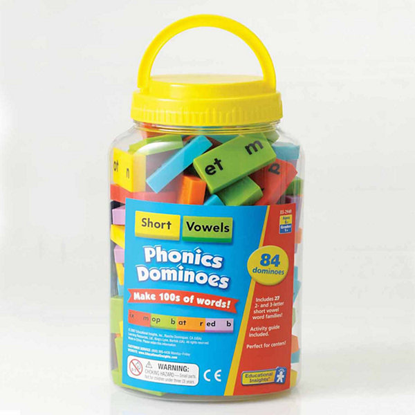 Educational Insights Phonics Dominoes — Short Vowels